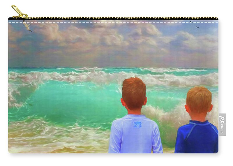 Kids Carry-all Pouch featuring the digital art Appealing Destractions by Rick Wiles