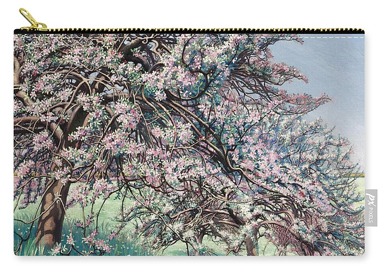 Carlos Schwabe Carry-all Pouch featuring the painting Apple Blossom by Carlos Schwabe