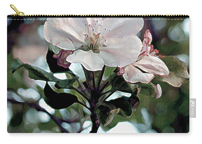 Blossom Carry-all Pouch featuring the painting Apple Blossom Time by RC deWinter