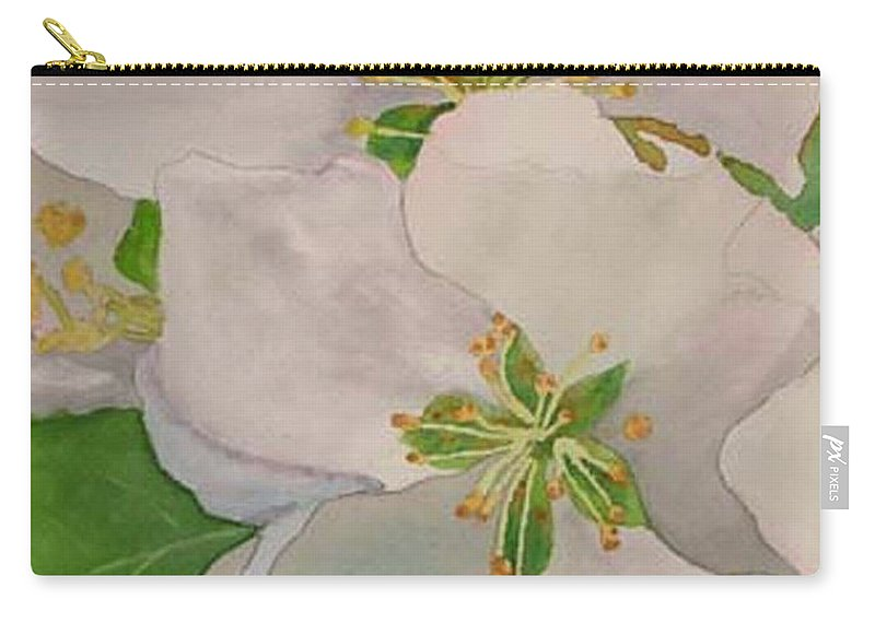 Apple Blossoms Carry-all Pouch featuring the painting Apple Blossoms by Sharon E Allen