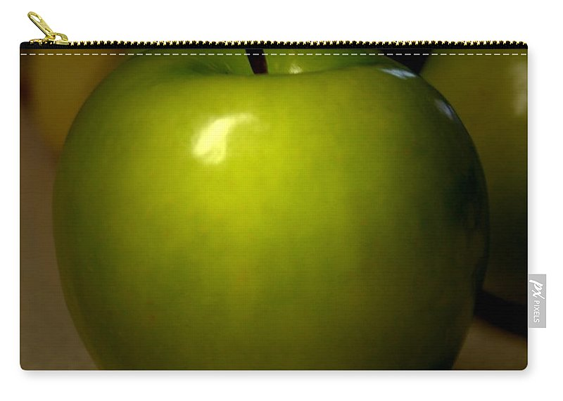 Green Apples Carry-all Pouch featuring the photograph Apple by Linda Sannuti