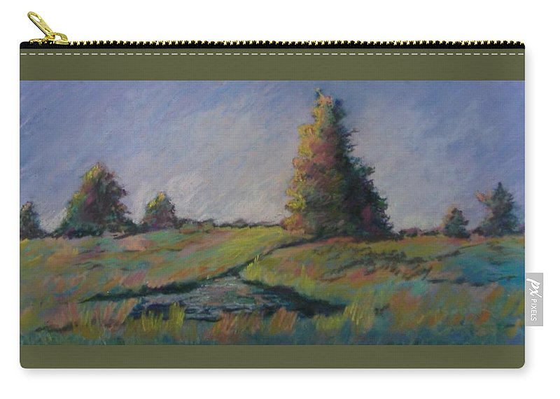 Landscape Carry-all Pouch featuring the pastel Apple Pond by Pat Snook