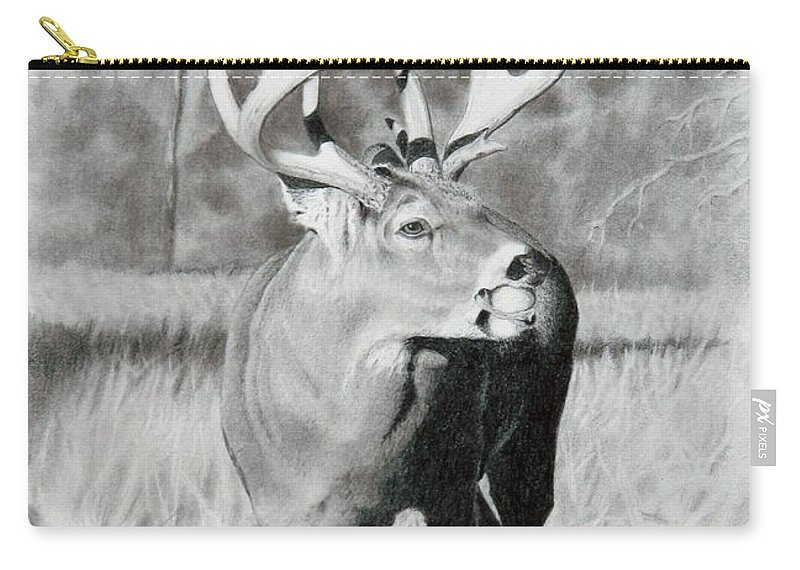 Animal Carry-all Pouch featuring the drawing Apple Snack by Stan White