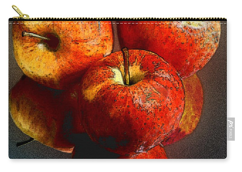 Apples Carry-all Pouch featuring the photograph Apples And Mirrors by Paul Wear