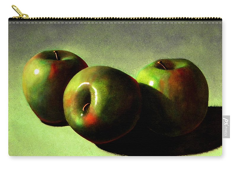 Still Life Carry-all Pouch featuring the painting Apples by Frank Wilson
