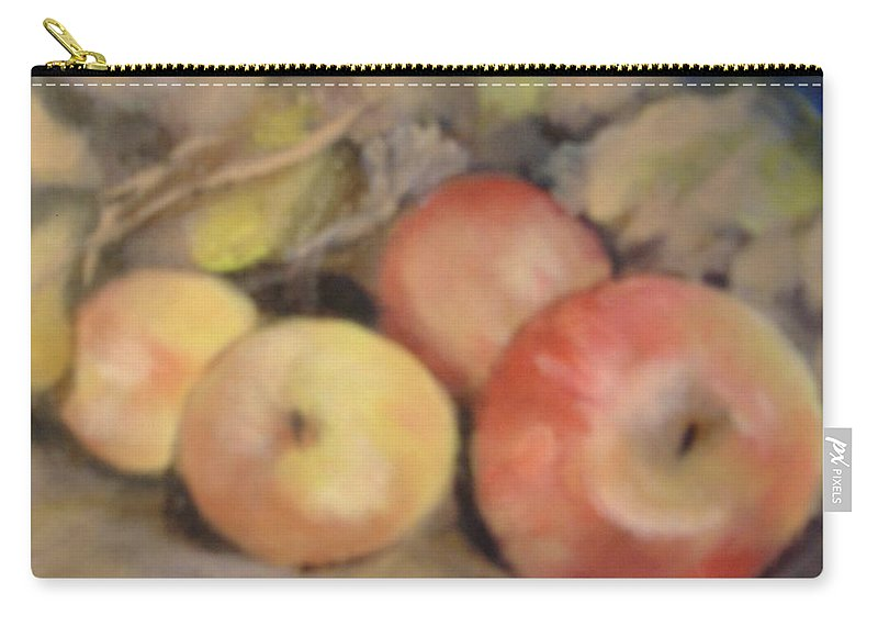 Fruit Carry-all Pouch featuring the painting Apples by Pat Snook