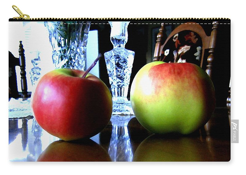 Apples Carry-all Pouch featuring the photograph Apples Still Life by Will Borden