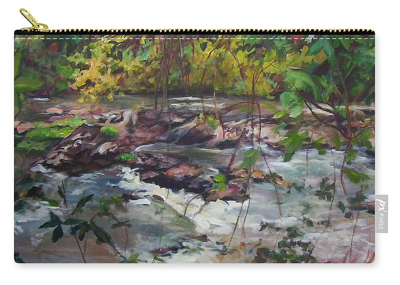 Landscape Carry-all Pouch featuring the painting Appomattox View by Sheila Holland