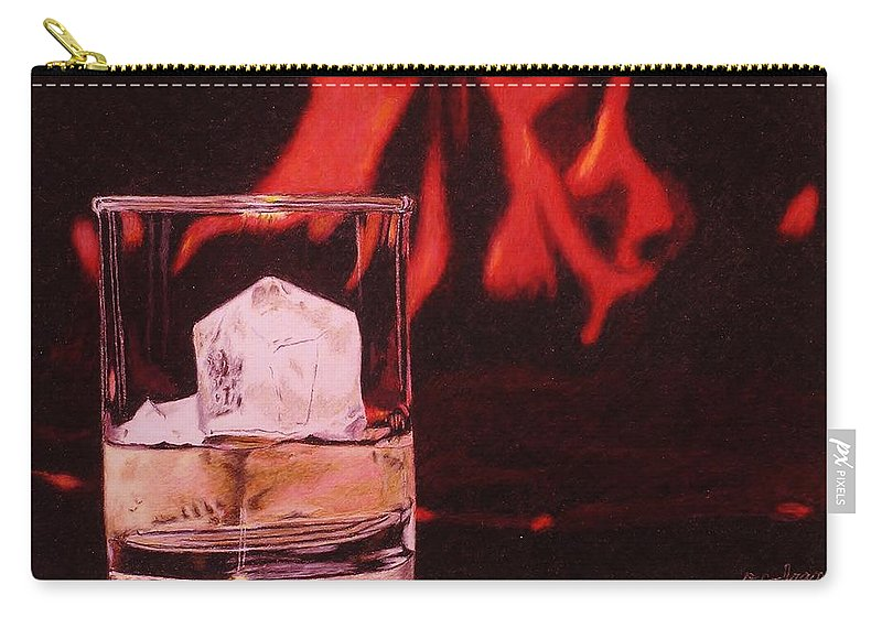 Whiskey Carry-all Pouch featuring the drawing Apres Ski by David Cochran