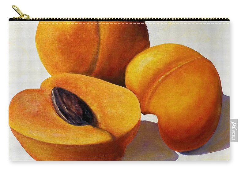 Apricots Carry-all Pouch featuring the painting Apricots by Shannon Grissom