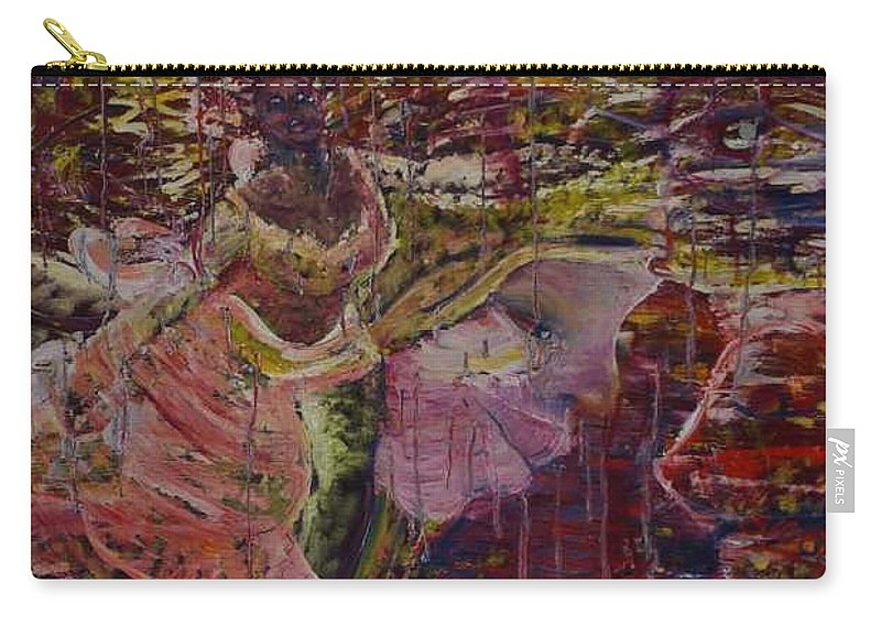 Portrait Carry-all Pouch featuring the painting April 29th. by Peggy Blood