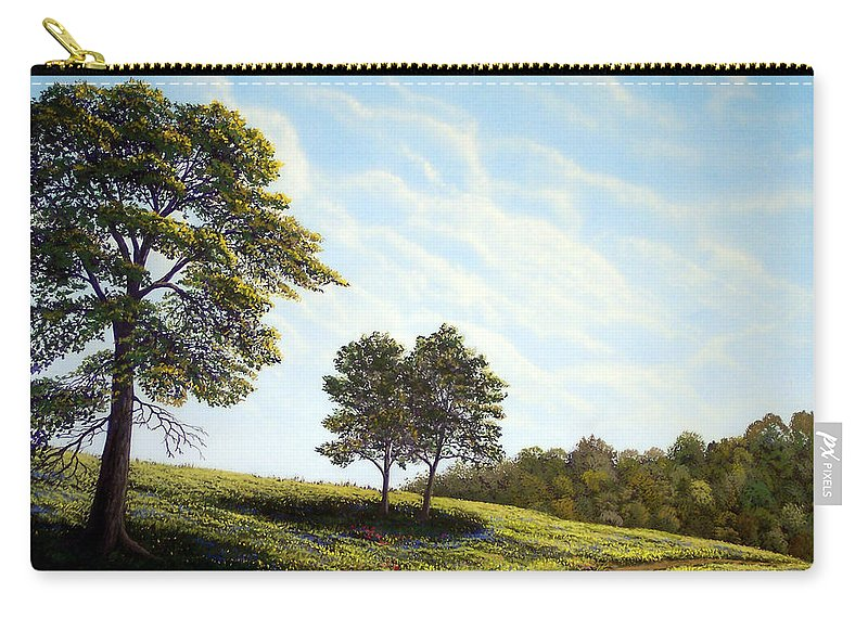 Wilderness Carry-all Pouch featuring the painting April Afternoon by Frank Wilson
