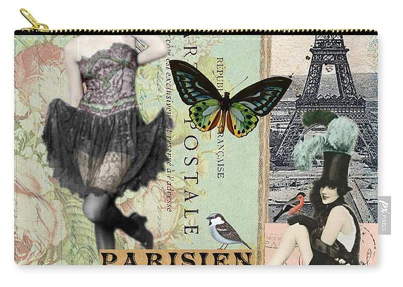 Sandy Lloyd Carry-all Pouch featuring the painting April In Paris by Sandy Lloyd