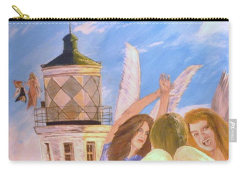 Look April Carry-all Pouch featuring the painting Aprils flying by J Bauer