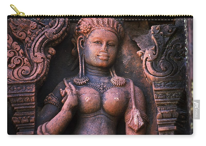 Apsara Carry-all Pouch featuring the photograph Apsara by Patrick Klauss