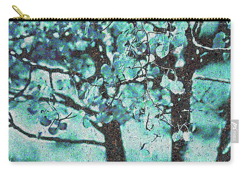 Aqua Carry-all Pouch featuring the photograph Aqua Aspens by Jim And Emily Bush