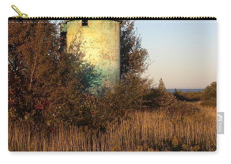 Silo Carry-all Pouch featuring the photograph Aqua Silo by Tim Nyberg