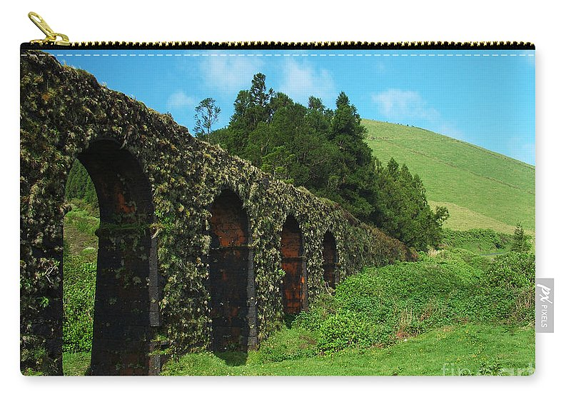 Ancient Carry-all Pouch featuring the photograph Aqueduct by Gaspar Avila