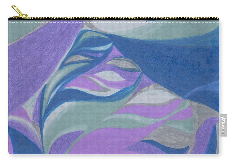 Abstract Carry-all Pouch featuring the drawing Aqueous by Kim Sy Ok