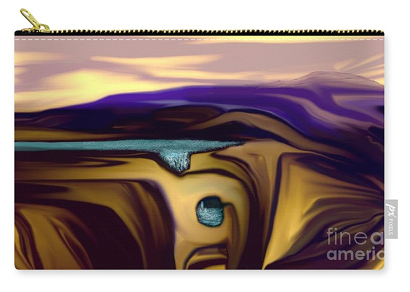 Abstract Carry-all Pouch featuring the digital art Aquifer by David Lane