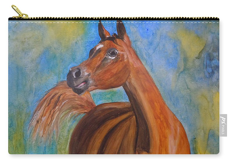 Horse Carry-all Pouch featuring the painting Arabian Beauty by Jean Blackmer