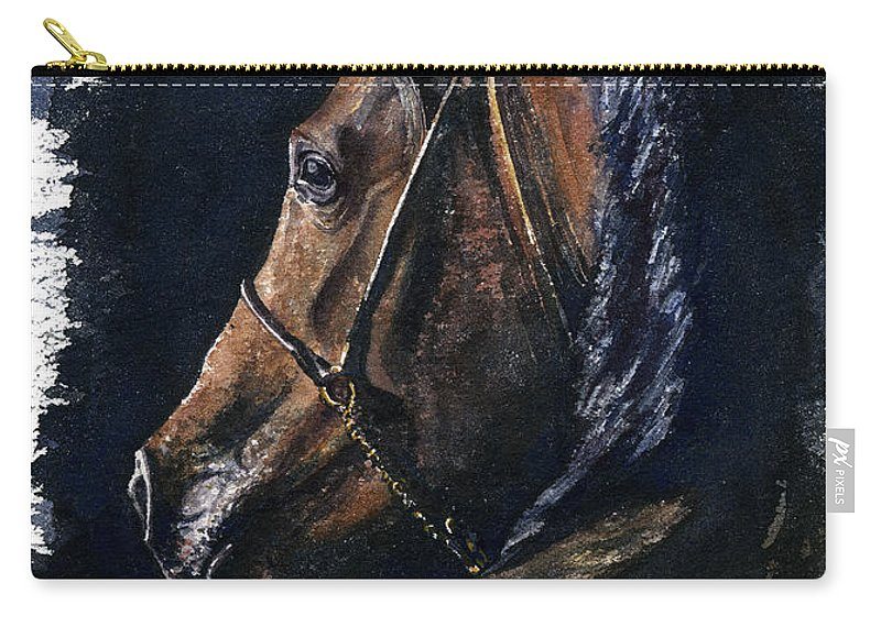 Horse Carry-all Pouch featuring the painting Arabian by John D Benson