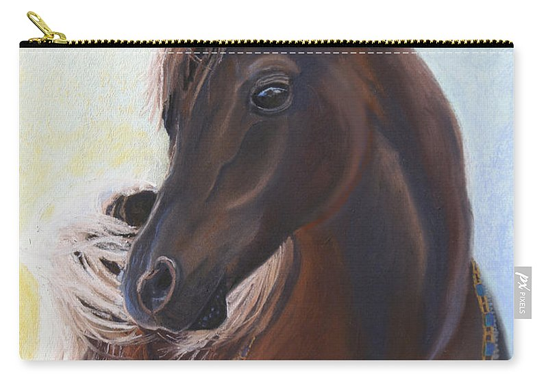 Horse Carry-all Pouch featuring the painting Arabian Prince by Heather Coen