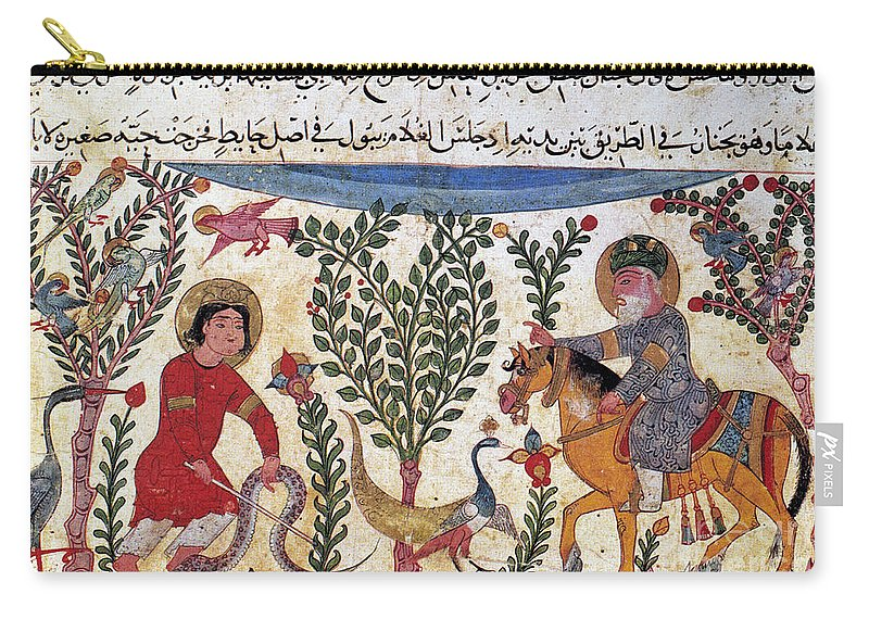 12th Century Carry-all Pouch featuring the photograph Arabic Physician by Granger