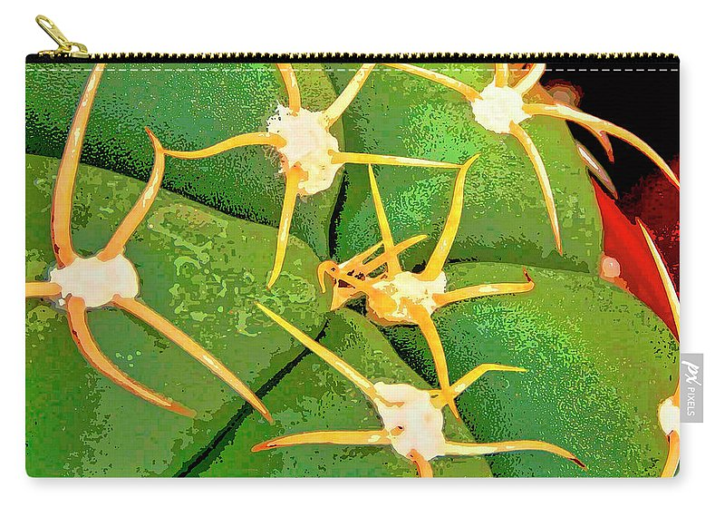 Cactus Carry-all Pouch featuring the mixed media Arachnids by Dominic Piperata