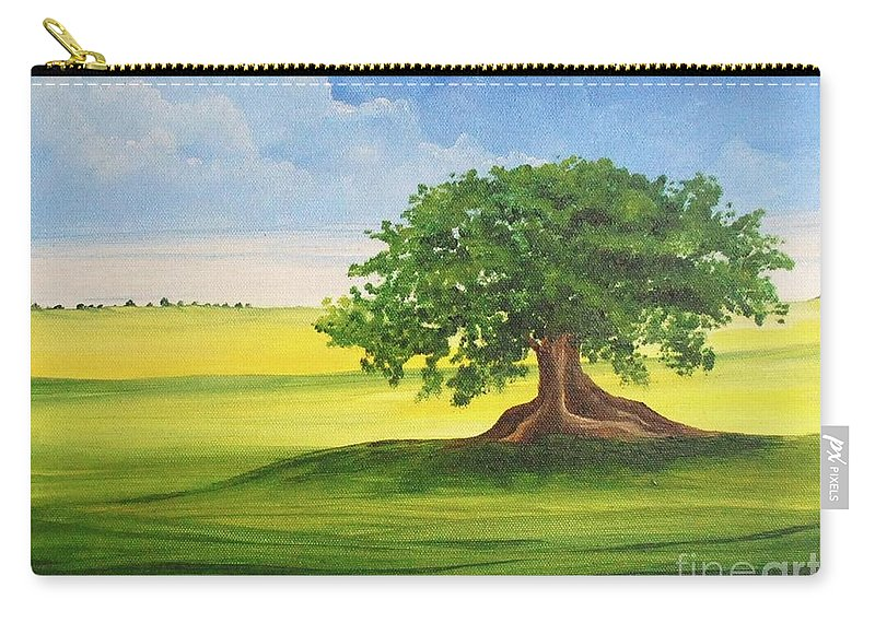 Alicia Maury Prints Carry-all Pouch featuring the painting Arbol De Ceiba by Alicia Maury