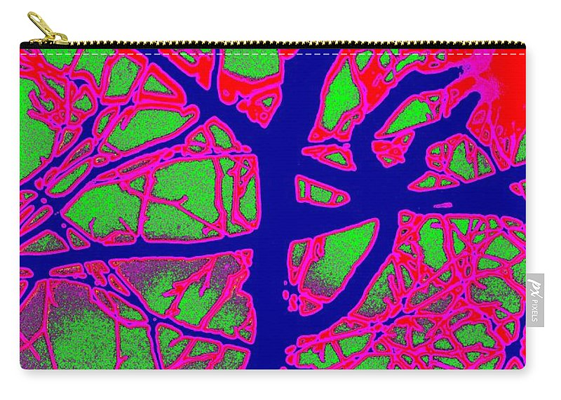 Abstract Carry-all Pouch featuring the digital art Arbor Mist 2 by Tim Allen