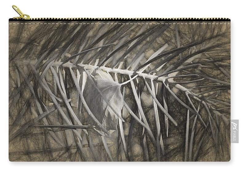 Desert Forest And Garden Carry-all Pouch featuring the digital art Arborescence by Becky Titus