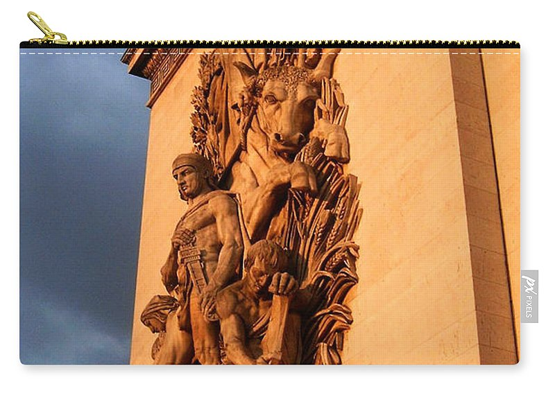 Europe Carry-all Pouch featuring the photograph Arc De Triomphe by Juergen Weiss