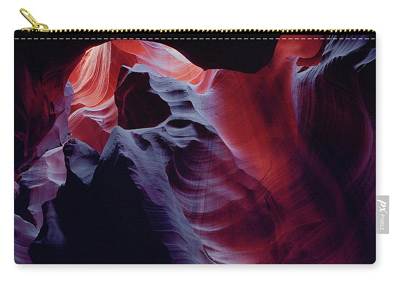 Antelope Canyon Carry-all Pouch featuring the photograph Arc Light by Tom Daniel