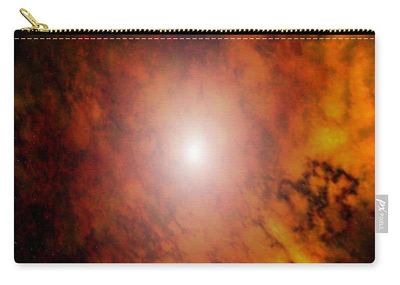 Artrage Artrageus Space Nebula Scifi Carry-all Pouch featuring the digital art Arca Nebula by Robert aka Bobby Ray Howle