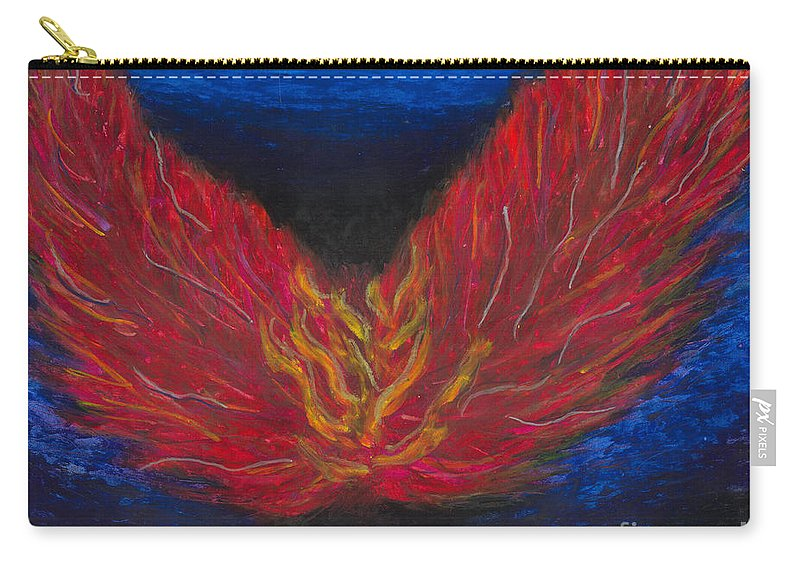 Arch Angel Gabrielle Carry-all Pouch featuring the painting Arch Angel Gabrielle by Ania M Milo