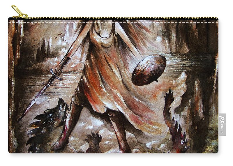 Angel Carry-all Pouch featuring the painting Archangel by William Russell Nowicki