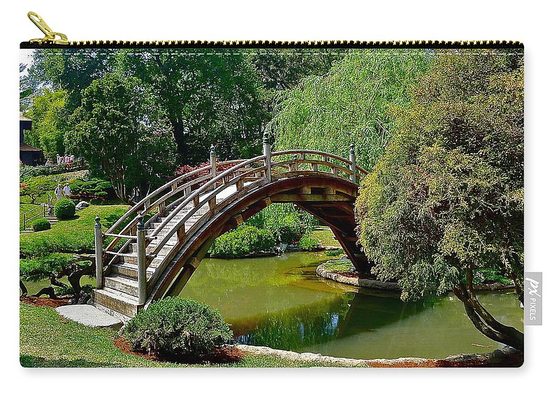 Garden Carry-all Pouch featuring the photograph Arched Bridge by Denise Mazzocco