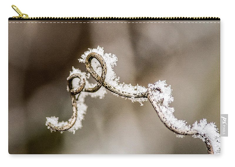 Arched Carry-all Pouch featuring the photograph Arched Frosty Curlique by Douglas Barnett
