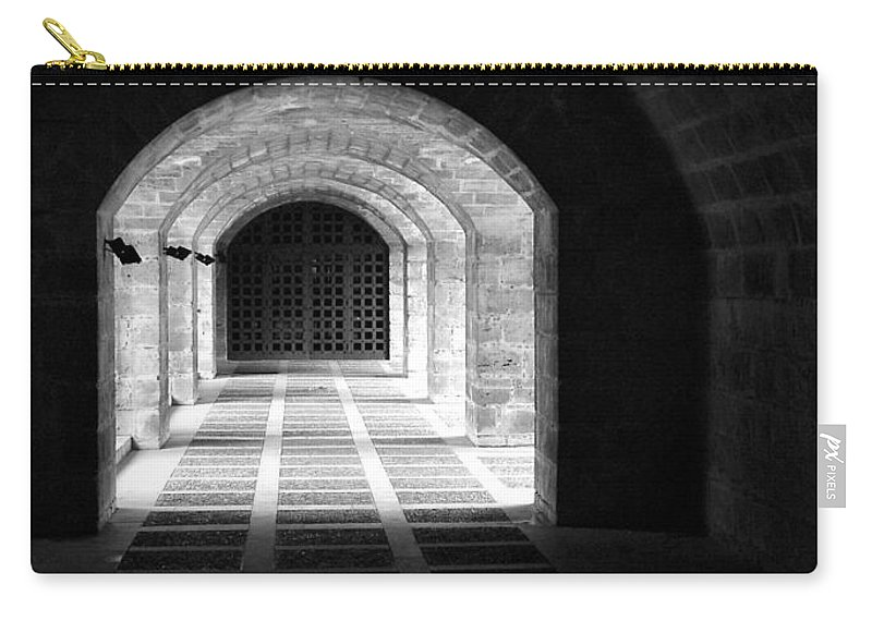 Landscape Carry-all Pouch featuring the photograph Arched Hallway In Palma by Donna Corless