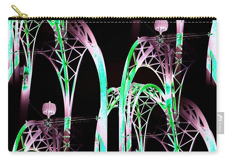 Seattle Carry-all Pouch featuring the digital art Arches 3 by Tim Allen