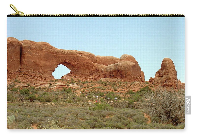 Arches National Park Carry-all Pouch featuring the photograph Arches Formation 34 by Dawn Amber Hood
