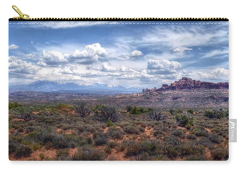 Arches Carry-all Pouch featuring the photograph Arches Landscape by Joseph Rainey