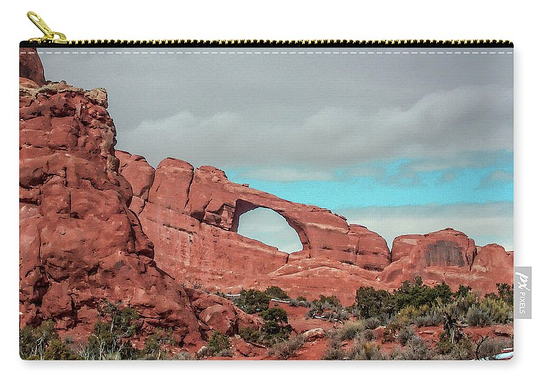 Arches National Park Carry-all Pouch featuring the photograph Arches National Park 1 by Tommy Anderson