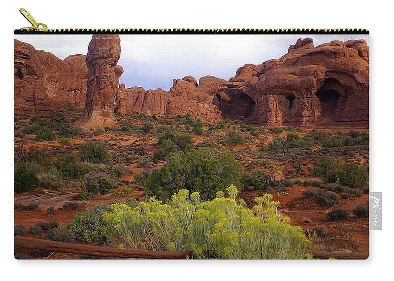 Southwest Art Carry-all Pouch featuring the photograph Arches Park 1 by Marty Koch