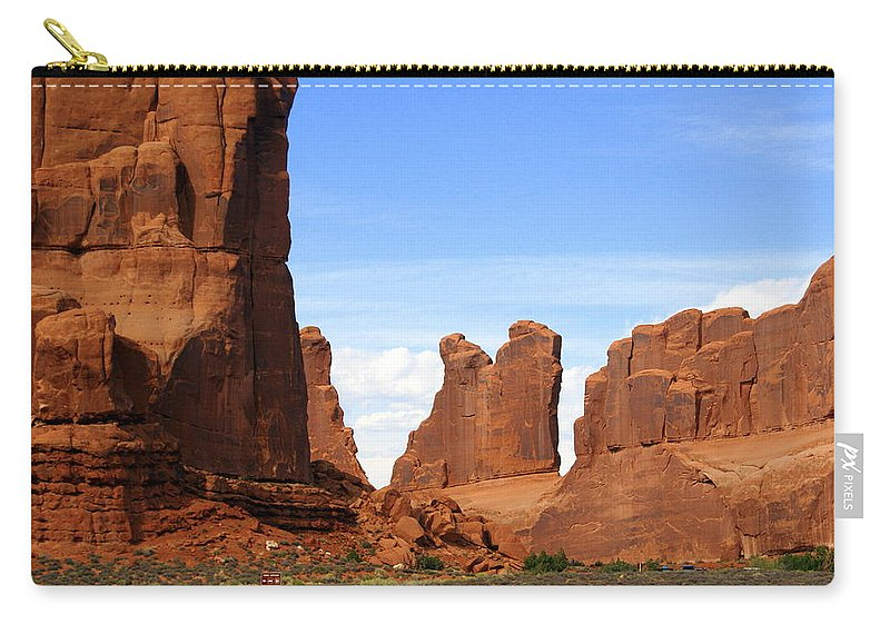 Arches National Park Carry-all Pouch featuring the photograph Arches Park 2 by Marty Koch