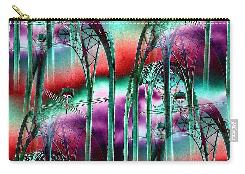 Seattle Carry-all Pouch featuring the digital art Arches by Tim Allen