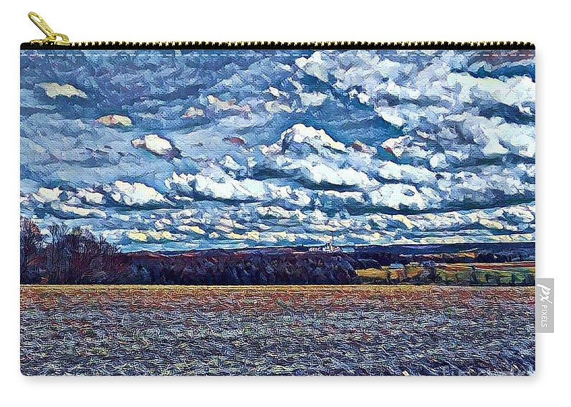 Beautiful Carry-all Pouch featuring the digital art Archies Farm by Jeffrey Koss