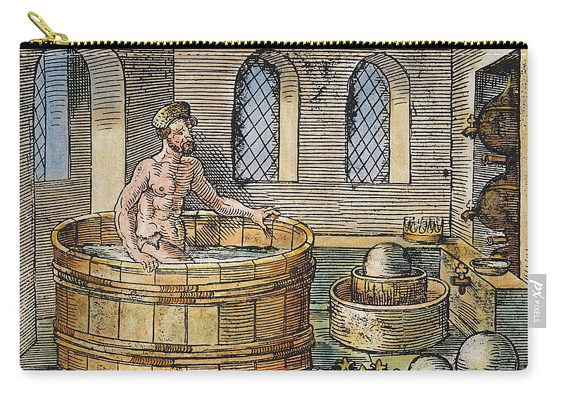 3rd Century B.c. Carry-all Pouch featuring the photograph Archimedes by Granger