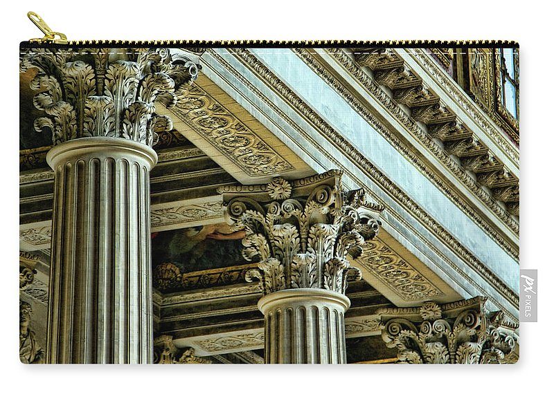 France Carry-all Pouch featuring the photograph Architecture Columns Palace King Louis Xiv Versailles by Chuck Kuhn